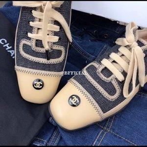 CHANEL denim sneakers. Authentic!!!